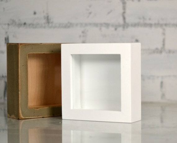 handmade small square shadow box frame holds up to 45 x 45 x 125 inches