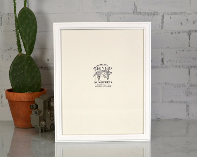 "11x14"" Picture Frame in Double Cove Style with Solid White Finish - Can Be Any Color - Handmade Modern White 11 x 14 Photo Frame"
