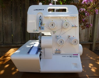 Juki MO-644D Portable Serger & Accessories 2-Needle, 3/4 Thread Overlock - Gently Used - Free Domestic Shipping