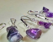 Amethyst Pet Charm, Healing Stone, Collar Charm, Therapeutic Gemstones