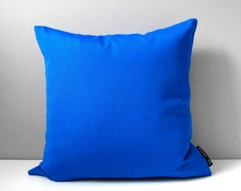 Cobalt Blue Pillow Cover, Outdoor Pillow Case, Decorative Pillow Cover, Pacific Blue Sunbrella Cushion Cover, Throw Pillow Case, Mazizmuse