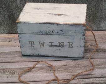 SHABBY CHIC KITCHEN twine box