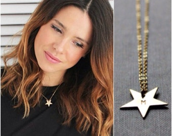 Star Gold Necklace - Celebrity Style - 14K Goldfilled