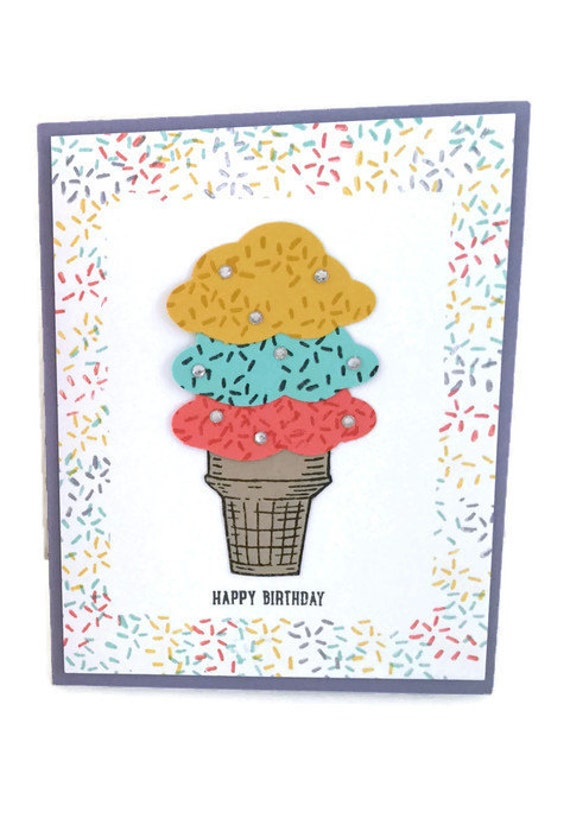 Stampin Up Birthday Cards For Kids ~ Stampin up ice cream birthday card for kids by cardsbylela