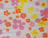 Vintage Flower Power Fabric • Winky Textile Inc. # 9002 • 2 yards X 60 inches