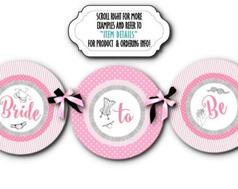 Bridal Shower Banner, Party Bunting, Bachelorette Party, Lingerie Shower, Sexy Lingerie, Pink and Black, Bride to Be, Sexy Sexy Girl