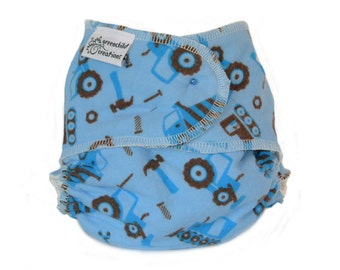 Cloth Diaper Fitted, One Size, Construction, Flannel - Add Snaps, Hook and Loop, or Pins