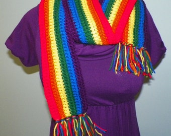 Scarf Gay Pride Rainbow Made to Order