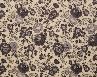 Liberty tana lawn printed in Japan - Felicite - Chacole gray mix