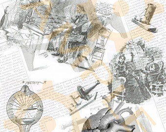 Steampunk Collage Scrapbooking Page