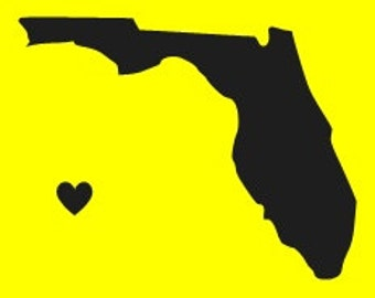 FLORIDA STENCIL 3x3 Florida State Stencil With Heart Overlay Make Your Own Signs Tags and More Hafair