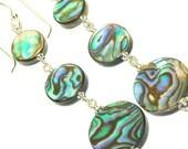 Abalone Earrings - Long Earrings - Shell Jewelry - Beach Jewelry