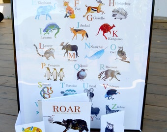 18x24 ABC Animal Alphabet Poster