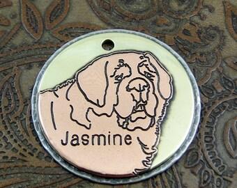 Saint Bernard, ID Tag, Handmade Dog ID Tag, Custom Pet Collar Tag, Dog ID Tag