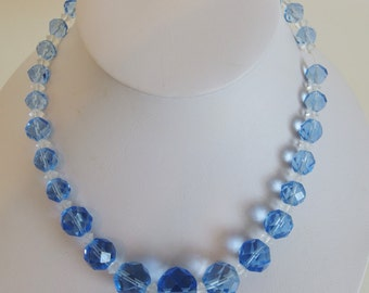 Beautiful Vintage Faceted Glass Bead Necklace