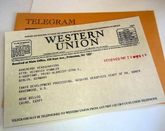 Vintage Western Union Replica Telegram personalized
