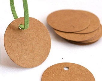 ROUND Shape DIY Collection Kraft Tags