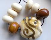 Destash Lampwork glass bead focal and spacers