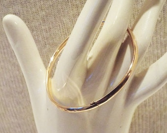 Early 1900 Victorian Hollow Hinge  14k Bangle Bracelet Antique 14k Jewelry