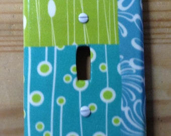 Patchwork switch plate cover
