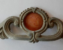 vintage antique waterfall era drawer pull with 4 inch centers bakelite