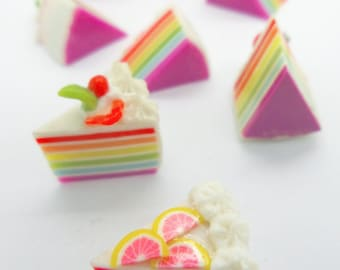 Miniature Polymer Clay Bakery for Dollhouse and Beads Jewelry, 8 pieces