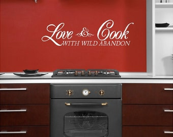 Love and cook...Kitchen Wall Quotes Sayings Words Lettering Decals Art