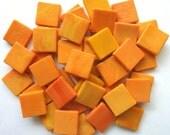"""15mm (3/5"""") bunt Melone Orange opak Glas Mosaik-Fliesen / / Mosaik / / Mosaik-Zubehör"""