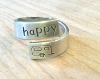Happy Camper wrap ring