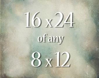 16x24 Photograph of any 8x12 Photograph, large wall art, fine art photograph, enlargement, custom size