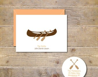 Baby Thank You Cards, Canoes, Camping, Oars, Baby, Thank You Cards, New Baby Cards, Baby Announcements, Birth Announcements
