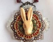 Royal rabbit necklace