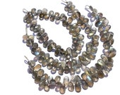 Bead, Labradorite Faceted Pear (Quality AA) /  6.5x8 to 7x10 mm / 14 to 16 Grms / 18 cm / LAB-072