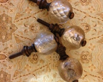 glass cabinet hardware, round  glass drawer pull,