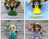 Princess necklaces, Ariel, Belle, Aurora, Cinderella , Jasmine, Snow White, Tinker Bell necklaces