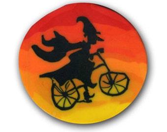 Wicked Witch on a Bike- Polymer Clay Silly Milly Cane