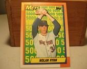 Nolan Ryan, Nolan Ryan Baseball, Rtan Express, Vintage Ryan, Nolan Ryan Card, Topps, Mlb Card, 1990 Topps,Hall Of Famer, Baseball Card, Mets