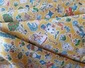 Liberty Art Fabrics Tana Lawn Cotton Gallymoggers Raynard in Yellow Alice's Adventures in Wonderland per Half Yard