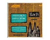 """Ronald Clyne record album design, c.1950. """"Bach: Cantata No. 78 & Cantata No. 106"""" LP"""