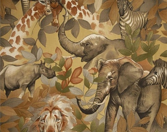 PADDED Standard size Ironing Board Cover made with Alexander Henry Exotica Kendi Safari Tea Safari