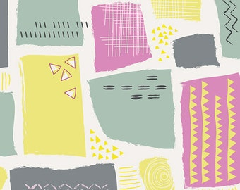 Art Gallery Fabric's Playing Pop Sugar Crystals Sour 1 yard