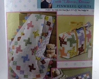 Simplicity 4663, Quilt in a Day, Pinwheel Quilts, Diaper Bag and Baby Changing Pad Sewing Pattern, Uncut