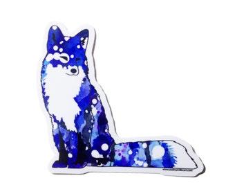 Blue Fox - Die Cut Vinyl Sticker weather resistant UV protected