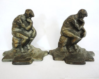 The Thinker - Old Bookends