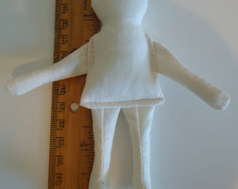 "Tiny cloth rag doll body-baby-form 5.5"" small-supply"