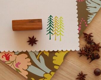 Naive Pine Tree Olive Wood Stamp