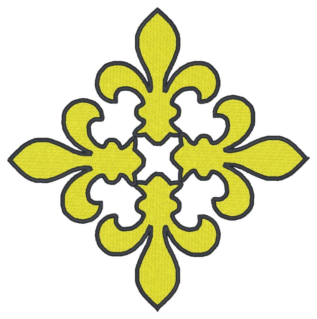 fleur de lis machine embroidery