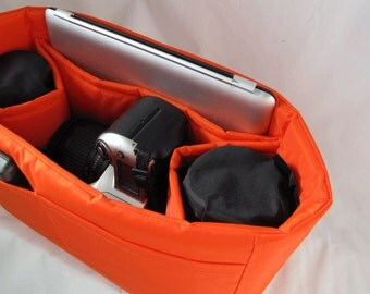 PreOrder Camera Bag Insert  - 2 Lens Sleeves  - Orange