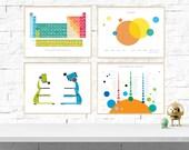 Science Art Print Set - 4 Designs