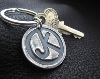 Ranch Brand Cattle Brand Keychain in Sterling Silver Monogrammed